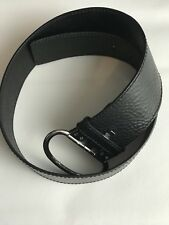 WOMEN'S BANANA REPUBLIC  BLACK MADE IN ITALY WIDE LEATHER BELT SIZE S.