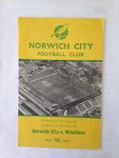 1958/9 NORWICH CITY V WREXHAM (DIV 3)