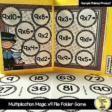 Multiplication Magic x9 File Folder Game Math Center New!