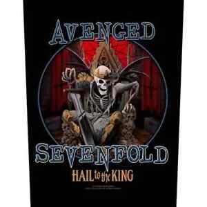 """AVENGED SEVENFOLD - """"HAIL TO THE KING"""" - LARGE SIZE - SEW ON BACK PATCH"""