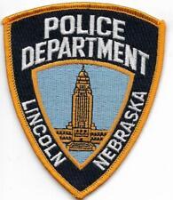 US Capital City HAUPTSTADT  NEBRASKA  Lincoln Polizei Abzeichen Police Patch USA