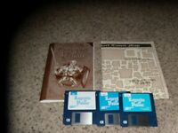 "Legends of Valour IBM Disks 1-3, No disk 4 on 3.5"" disks with manual and map"