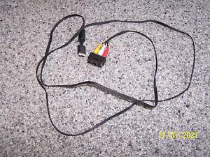 TV/AV Video Cinch Scart Adapter für die Sony Playstation 1,2 und 3 und 1,8m lang