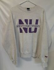 Northwestern University MV Sport Vintage Crew Neck Sweatshirt Gray XXL