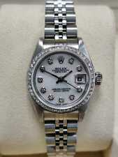 Rolex donna Oyster Perpetual date Just 26mm, ANNO 2000 Diamanti