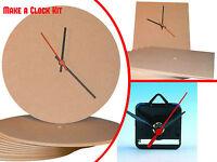 Make a Clock Kit For Children.Quartz kit, Square or Circular MDF face varaition