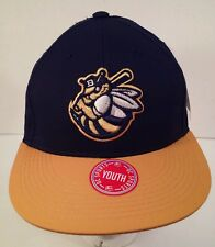 Burlington Bees Black Embroidered  MiLB Minor League Velcroback Hat Youth Size