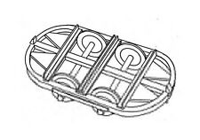 Hudson Wagon Chassis Curved Ends (5) (OO9 kit) - Dundas DM41 - F1