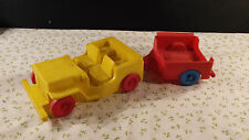 Vintage  50's 60's Toy Pick Up Truck With Trailer And Boat! Jeep speedboat