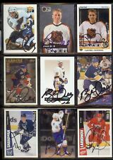 IGOR LARIONOV Detroit Red Wings 1996-97 Coll. Ch. SIGNED / AUTOGRAPH Hockey Card