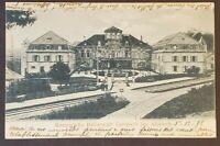 1898 Mühlhausen Germany Strasbourg Alsace France Railroad Station Postcard Cover