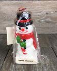 "VTG 1980 Amtrec 3D Snowman Christmas Candle 5""T x 2"" D x 2"" W"