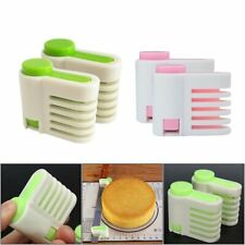 2Pcs Even Cake Slicing Leveler Bread Cutter Baking Tools easy to carry Y1