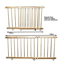 Wooden door barrier child / pet safety barrier extends 100cm - 140 cm