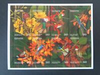 GUYANA 1996 HUMMINGBIRDS - BIRDS OF THE WORLD 8v MINIATURE SHEET MNH MINT