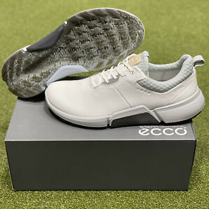 ECCO Biom H4 Spikeless Men's Golf Shoes Size 44 White US 10 New in Box #86014
