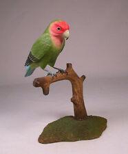 Peach-Faced Lovebird Original Bird wood Carving/Birdhug
