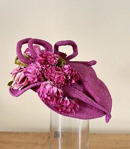 Antique Women's Germaine Montabert Hat Pink  Size 23