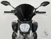 MRA Double-Bubble RacingScreen Windscreen For Yamaha FZ-07 '14-'17 - Black