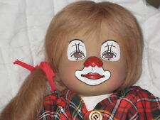 "VERY RARE 18"" Heidi Ott Clown - Handpainted by Heidi Ott - NOT SOLD IN STORES"