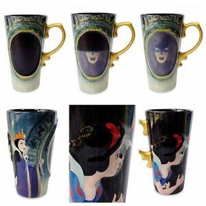Disney Store Snow White Heat Changing ceramic Mug Magic mirror Evil Queen
