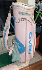 Ladies HEAD Retro Cart Golf Bag Soft Fury Strap Cool Bag Pink Green Blue