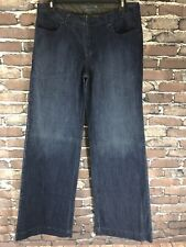 Simply Vera Wang JEANS Women's Size 8 Wide Leg Dark Wash Denim Blue