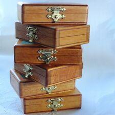 """FRENCH Miniature Wooden Box """"agrafes couturières pour jupes et"""""""