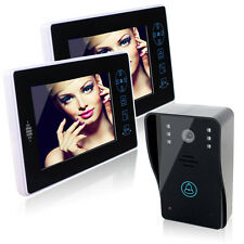 "7"" Digital Wireless Video Door Phone Doorbell System IR Camera 2.4GHz DC5V+Track"