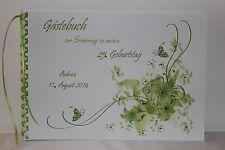 Gästebuch zum Geburtstag oder Jubiläum für jedes Alter , apfelgrün grün