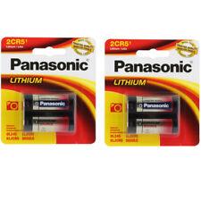 2 Pack Panasonic 2CR5 Lithium Photo Battery DL45, KL2CR5, 5032LC FRESH SEALED
