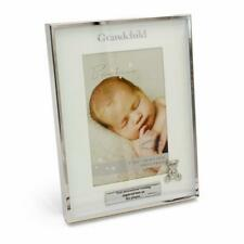 Personalised Silver Plated Grandchild Photo Frame Gift With Teddy Icon CG1397-P