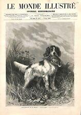 Ouverture de la chasse un bon rapport du chien par Bellecroix  ILLUSTRATION 1882