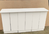 White Gloss Sideboard Storage Unit Cabinet Set + Worktop 990,1485 or 1980mm