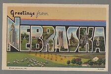 [61549] OLD LARGE LETTER POSTCARD GREETINGS FROM NEBRASKA