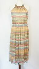 Sundance Silk Dress Womens Medium Aztec Print EUC