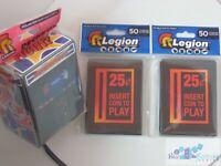 Insert Coin Retro Arcade LEGION MAT DECK PROTECTOR CARD SLEEVE AND DECK BOX mtg