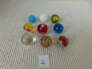 9 x 18mm Special Glass Marbles Assortment
