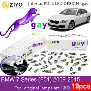 19 Bulbs LED Interior Light Kit Xenon White Dome Light For (F01) BMW 7 Series