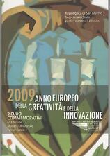 2 Euro commémorative de Saint-Marin 2009 Brillant Universel (BU) - Créativité