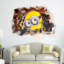 Despicable Me Minions 3D Wallpaper Wall Sticker Decal Decor Vinyl Children Room