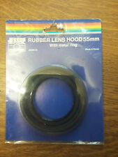 55mm JESSOPS  RUBBER LENS HOOD with metal ring (inc postage)
