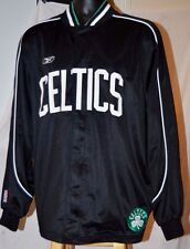 BOSTON CELTICS NBA FULL ZIP SIZE L MENS BLACK JACKET REEBOK STITCHED PREOWNED