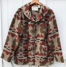 Orvis Men's Southwestern Wool Blend Button Front Aztec Jacket Coat M Medium