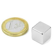 Super Magnete Cubo al Neodimio Lato 12 mm Potenza 6,3 Kg. W12N Magnetoterapia