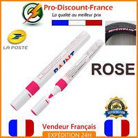 Marqueur Permanent Feutre Peinture Marque Pneu ROSE PINK Stylo Auto Moto Design