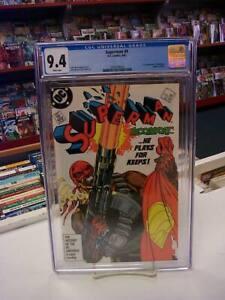 SUPERMAN #4 (DC Comics, 1987) CGC Graded 9.4! ~ BLOODSPORT ~ White Pages