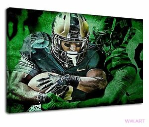 Extreme Nfl Quarterbacks For Boys Bedroom Canvas Wall Art Picture Print