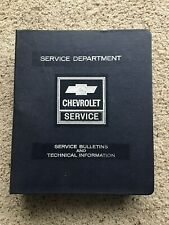1971  Chevrolet  Zone office only file binder, Product data book.