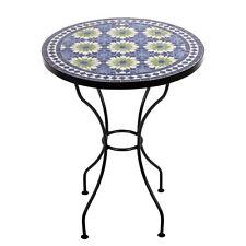 Marokkanischer Mosaiktisch orientalischer Tisch Bistrotisch Gartentisch 60cm Ira